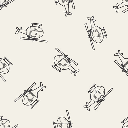 Helicopter doodle Vector