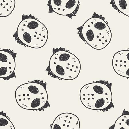 hallowenn mask doodle Vector