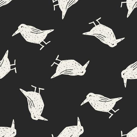 corvus: crow doodle Illustration