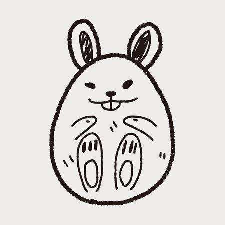 Easter egg doodle Vector