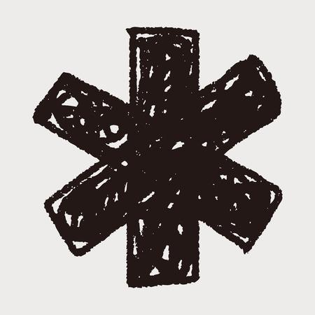 medical doodle Vector