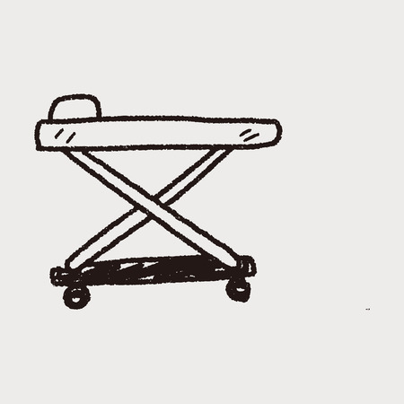 cama hospital: cama de hospital del doodle