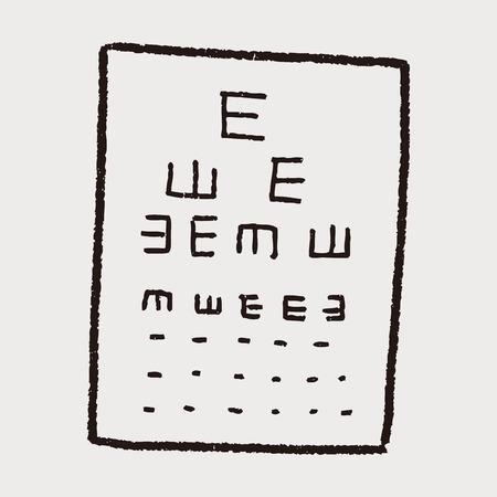 snellen: eye test doodle