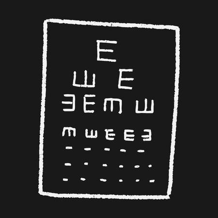 eye test doodle