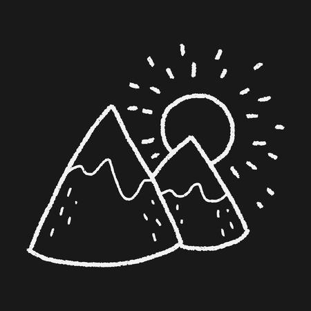 moutain: landscape doodle