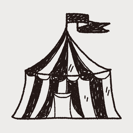 circus doodle Ilustrace