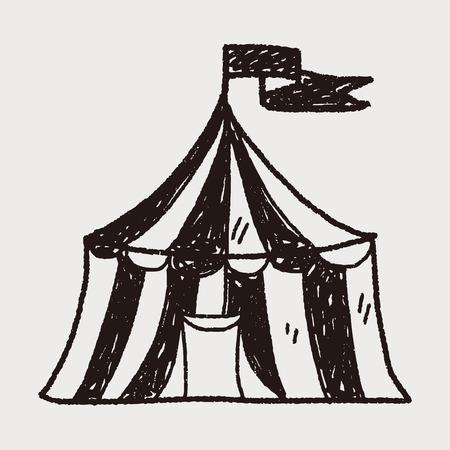 circus doodle Illustration
