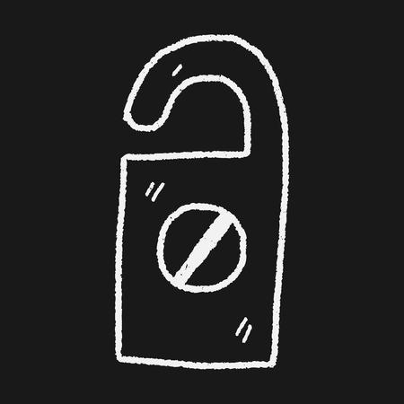 do not disturb: do not disturb doodle Illustration