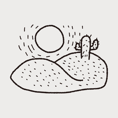 arizona sunset: desert doodle
