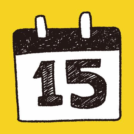 a calendar: doodle calendar Illustration