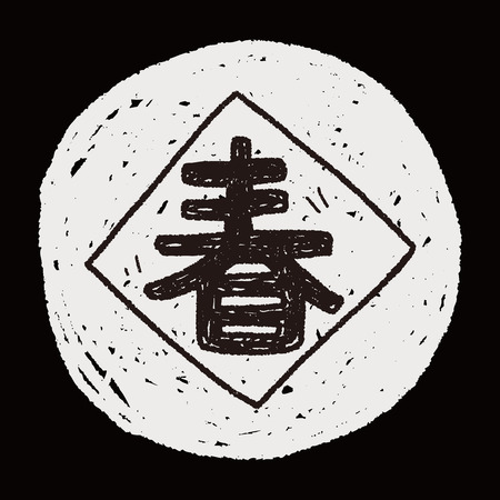 couplets: Chinese New Year; Chinese festival couplets doodle