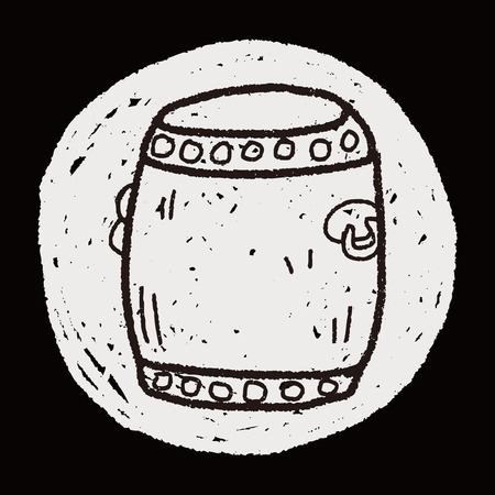 chinese drum: Chinese New Year; Chinese drum doodle