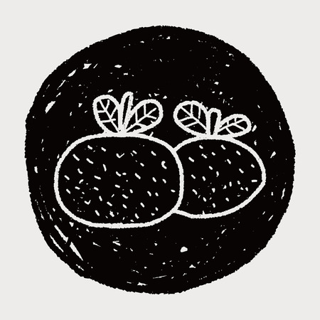 propitious: Chinese New Year; Chinese lucky orange means Wish you whole year will be lucky and propitious. doodle Illustration