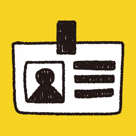 carta identit�: Identit� disegno carta scarabocchio