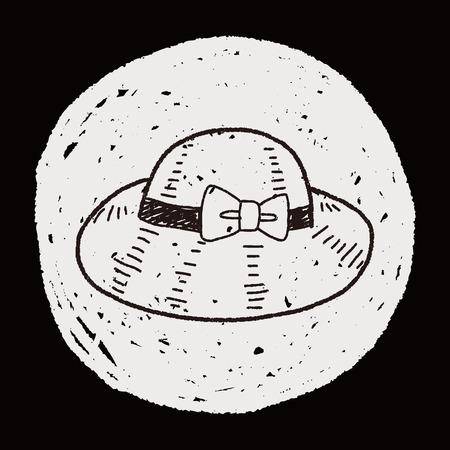 sombrero de paja: sombrero de paja del doodle