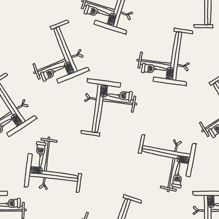 cama hospital: cama de hospital doodle de fondo sin fisuras patr�n Vectores