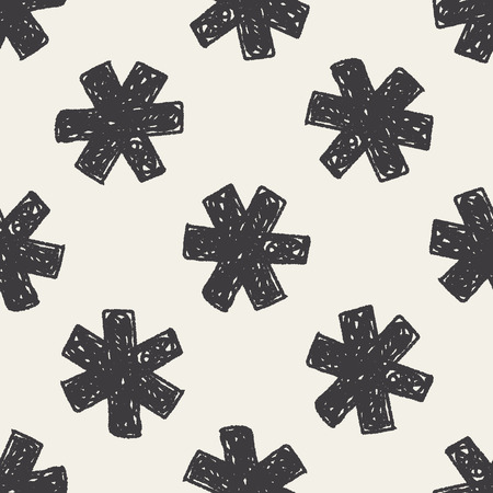 medical doodle seamless pattern background Vector