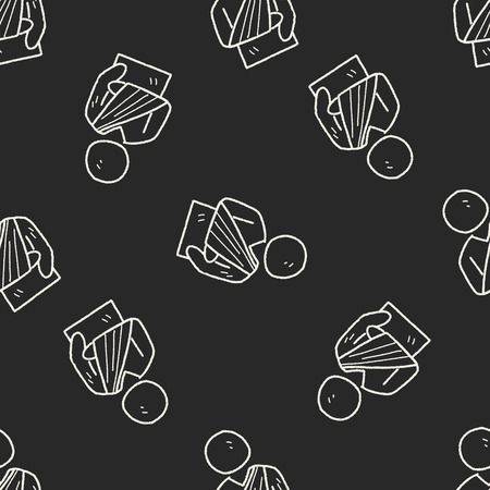fracture: Fracture hand doodle seamless pattern background