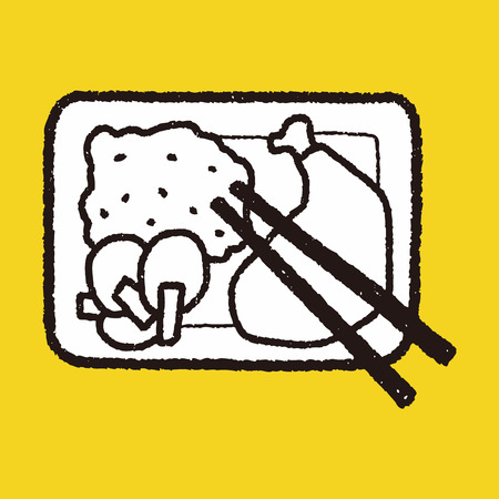 doodle healthy lunch Vector
