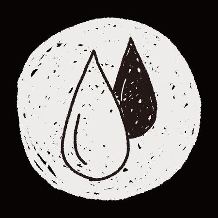 doodle blood Vector