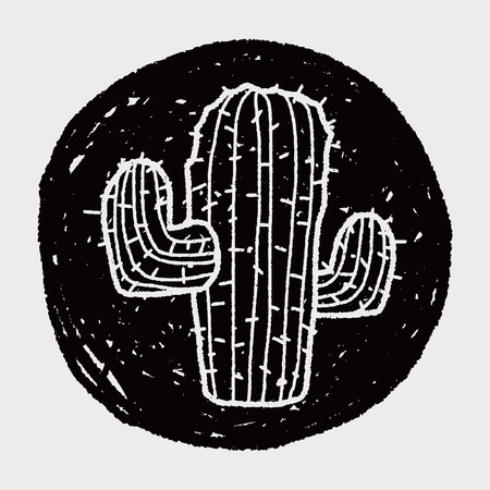 cactus botany: doodle cactus