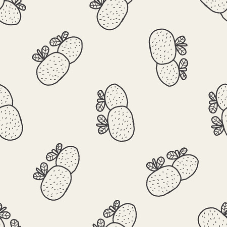 propitious: Chinese New Year; Chinese lucky orange means Wish you whole year will be lucky and propitious. doodle seamless pattern background Illustration