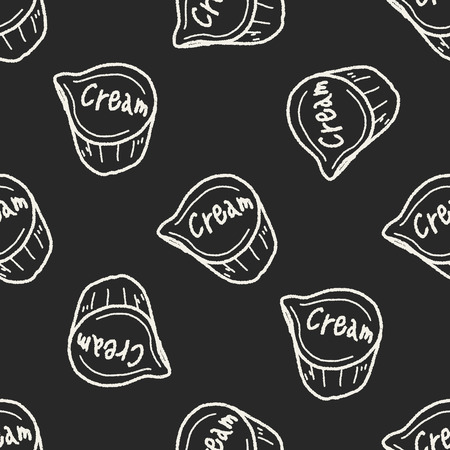 creamer: creamer doodle seamless pattern background