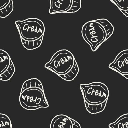 creamer: creamer doodle seamless pattern background