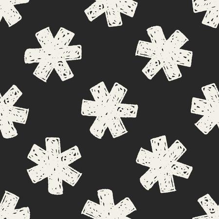 ems: medical doodle seamless pattern background