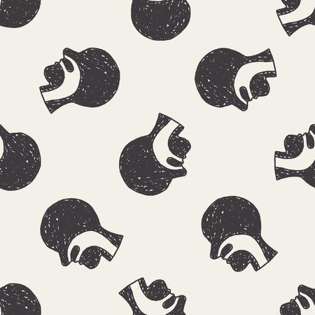 esófago: doodle de esófago fondo sin patrón