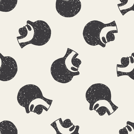 esophagus doodle seamless pattern background