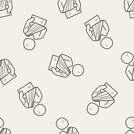 splint: Fracture hand doodle seamless pattern background
