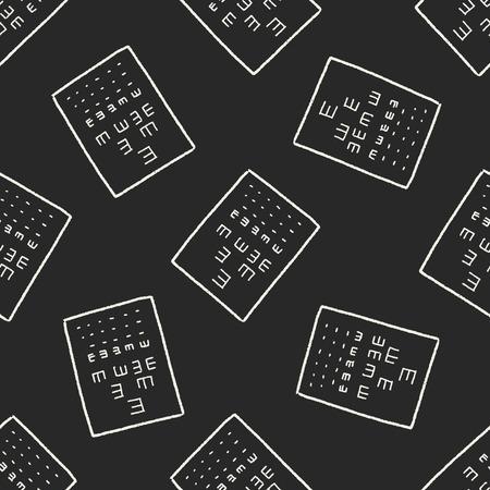 snellen: eye test doodle seamless pattern background
