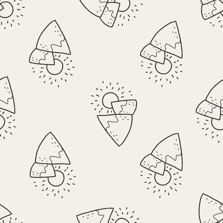 moutain: landscape doodle seamless pattern background
