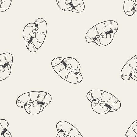 sombrero de paja: Doodle Sombrero de paja de fondo de fisuras