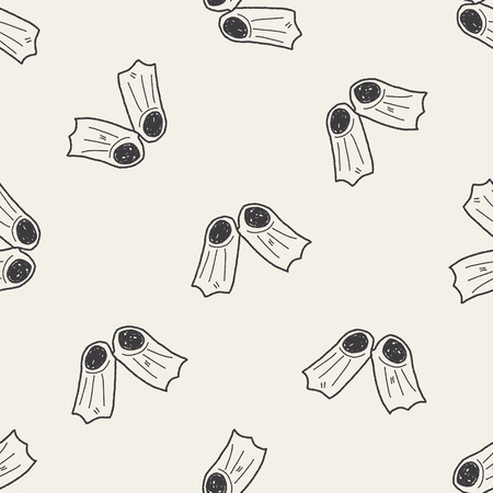 flippers: flippers doodle seamless pattern background