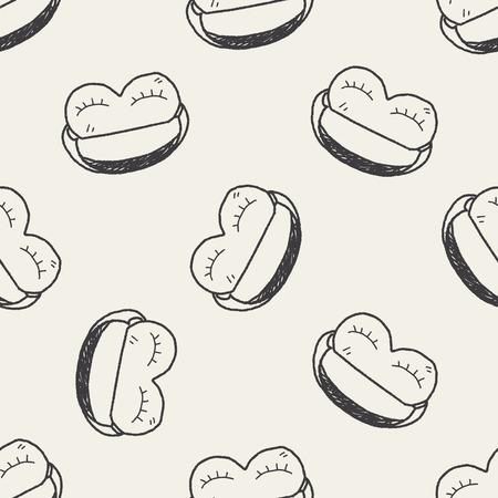 sleep mask: sleep mask doodle seamless pattern background Illustration