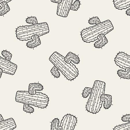 cactus: doodle cactus seamless pattern background