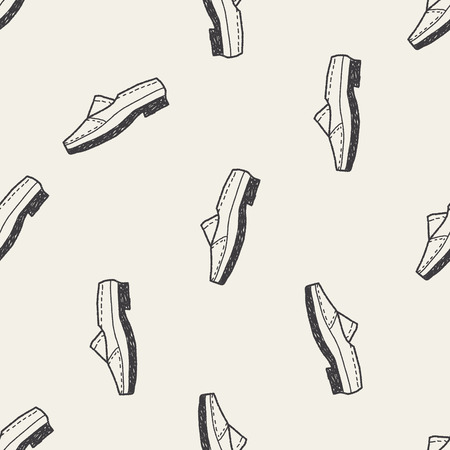 leather shoe: doodle leather shoe seamless pattern background