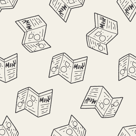catalog: catalogus doodle naadloze patroon achtergrond