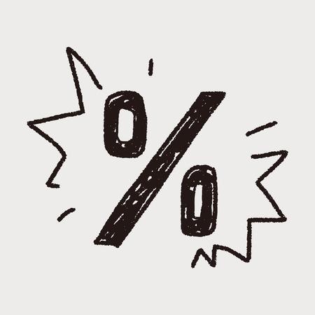 percentage doodle Vektoros illusztráció