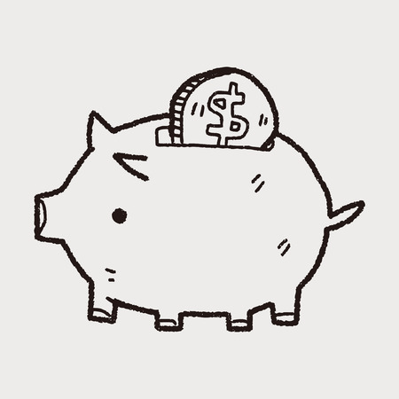 doodle varkens geld bank