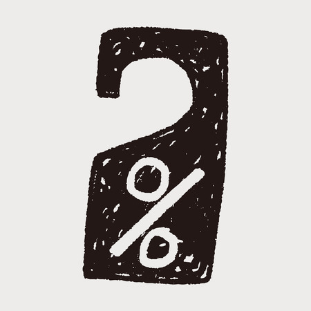 door hanger: door sale hanger doodle Illustration