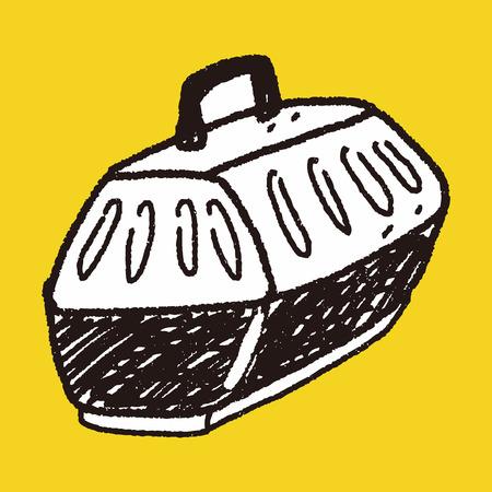 the carrier: doodle pet carrier Illustration