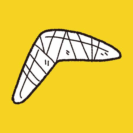 wooden boomerang: boomerang doodle