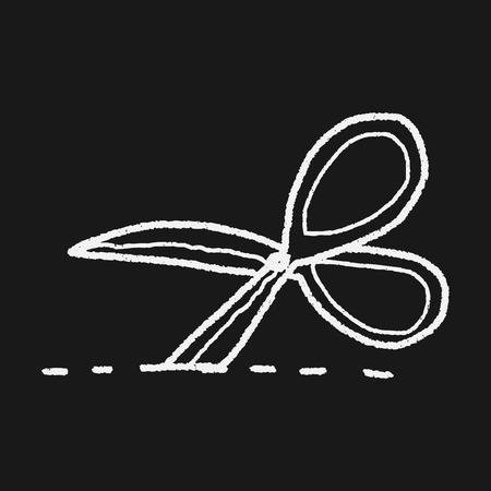 scissors cut doodle Vector