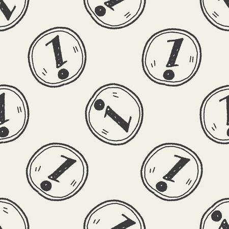 informing: information doodle seamless pattern background Illustration