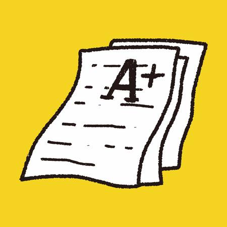 test paper doodle Vector