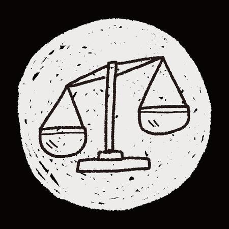 equil�brio: desenho do doodle do equil
