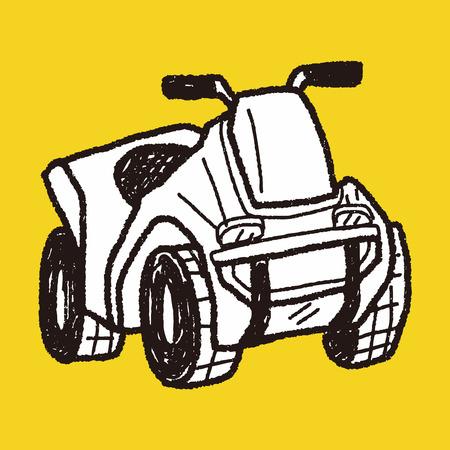motorcycle doodle Vector